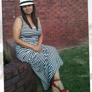 Calvin Klein Striped Maxi Dress 8
